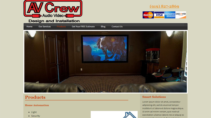 Audio Video Design and Installation Company Website