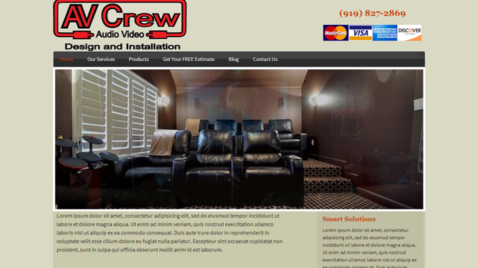 Audio Video Design and Installation Company Website design development expert