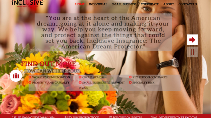 Insurance wordpress website development design