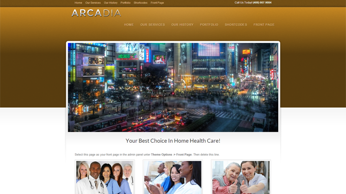 WordPress Arcadia Theme Installation Customization