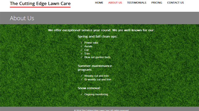 Wordpress custom lawn care website design development expert