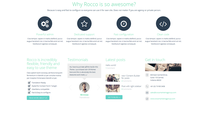 Wordpress rocco theme customization expert