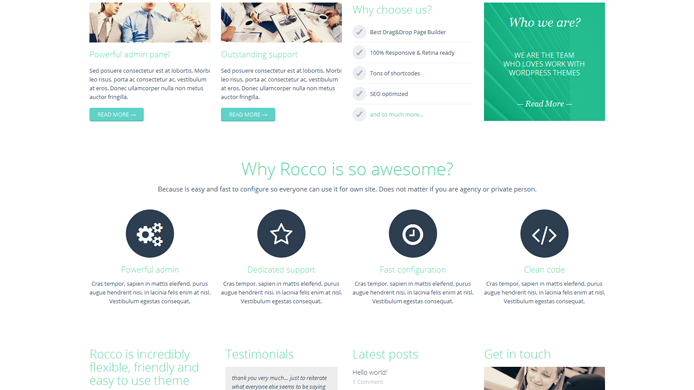 Wordpress rocco theme installment customization expert