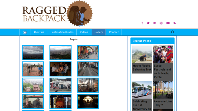 Wordpress travel blog custom design