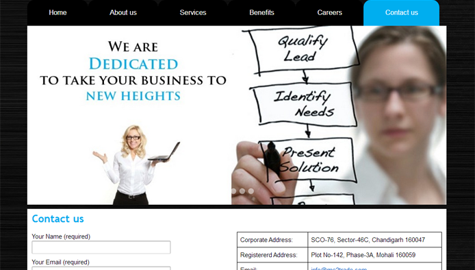 BPO Marketing company website design