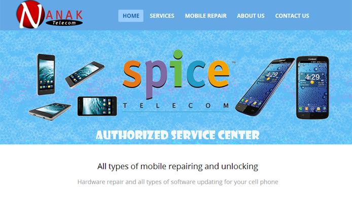 Mobile repair Website
