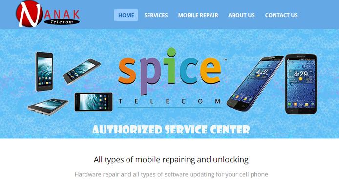 Mobile repair Website