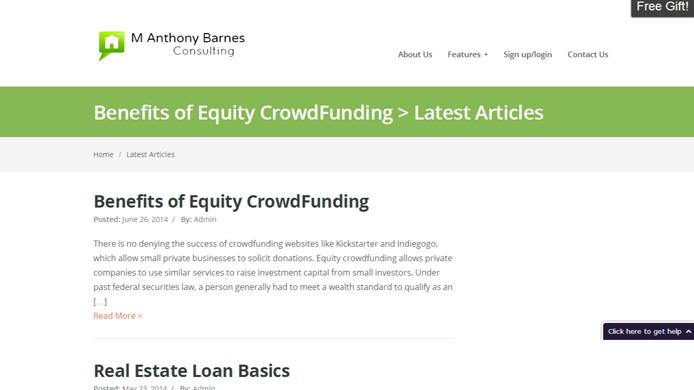 Real estate financing website