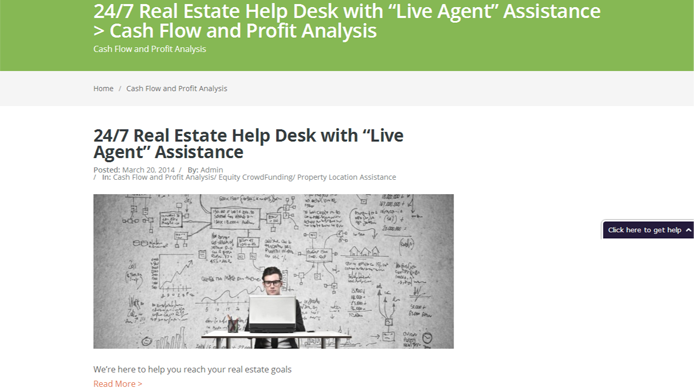 Real estate financing website wordpress