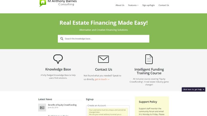 Real estate financing website wordpress design
