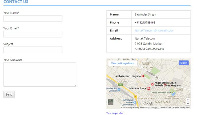 Mobile repair company website