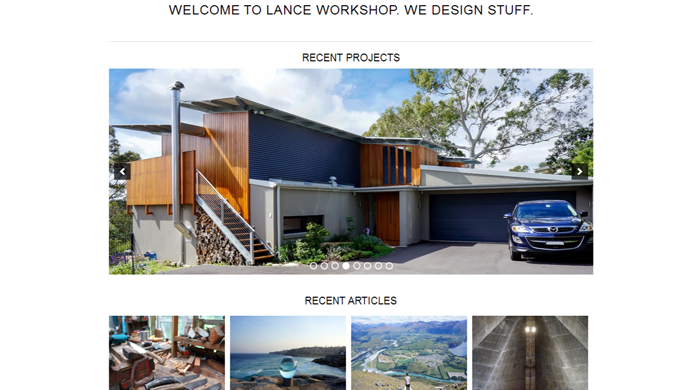 Wordpress design for construction company