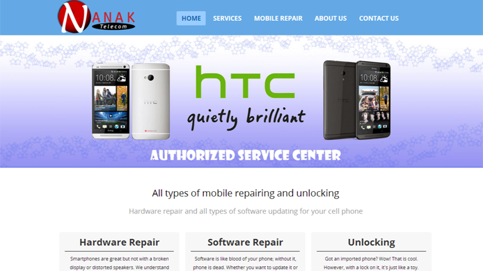 Wordpress custom site for mobile repair company