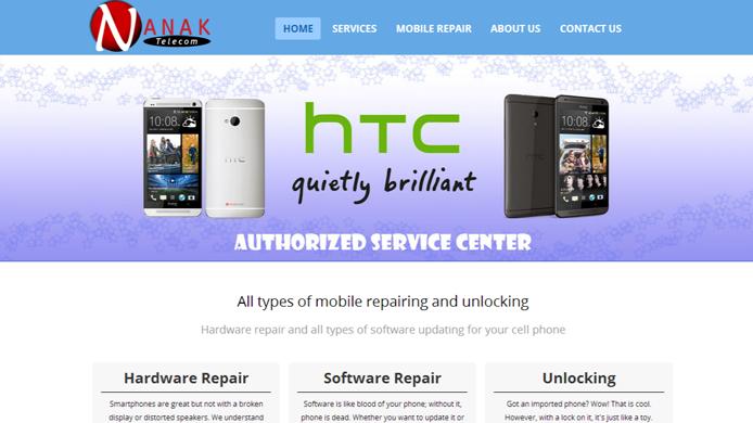 Wordpress custom site for mobile repair company